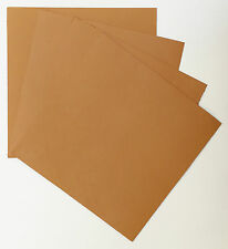 VEG-TAN LEATHER PIECES OF SHEEPSKIN, CRAFT PACK 4 @ 15CM X 15CM LONDON TAN