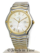 Ebel Classic Wave 18k Gold & Steel MOP Dial Watch