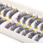 Thick 10 Pairs Makeup Handmade Natural Fashion Long False Eyelashes Eye Lashes