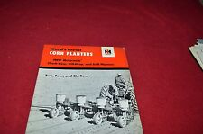 International Harvester Check Row, Hill, Drill Planters Dealers Brochure LCOH