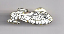 "Star Trek Voyager Ship 1¾"" Cloisonné Pin- UNUSED- FREE S&H (STPI-VOYSHIP)"