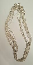 Wholesale Lot  Sterling Silver Snake Chain Necklace 17pc