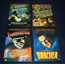 DRACULA FRANKENSTEIN INVISIBLE MAN CREATURE FROM BLACK LAGOON DVDS REGION 1