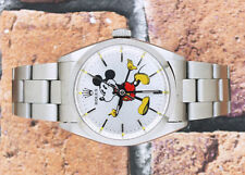 Gents Vintage Silver Mickey Mouse Dial Rolex Oyster Precision.