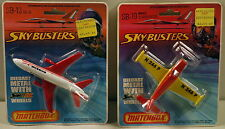 DTE 2 CARD 1977 LESNEY MATCHBOX SKYBUSTERS SB-13 SWISSAIR DC-10 & SB-19 PIPER