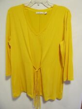 Isaac Mizrahi women size L Yellow stretchy long sleeve Lot#9