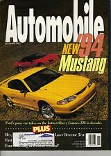 Automobile Magazine November 1993 Issue '94 Ford Mustang on the Cover