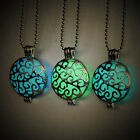 Chic Charm Jewelry Glow in the Dark Necklace Hollow Round Pendant Creative Gift