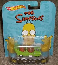 HOT WHEELS The Simpsons The Homer Diecast Toy Car with Real Riders MOC