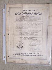 1959 Elgin Outboard 12 HP Parts List Model 571.58802 Sears  MORE IN OUR STORE  S
