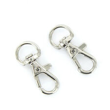 Lot of 10 Lobster Clasps Swivel Trigger Clips Snap Hooks Bag Key Rings Keychains