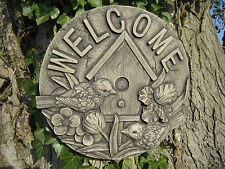 welcome stone garden ornament wall plaque   VISIT MY SHOP