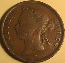 Straits Settlements Queen Victoria One Cent 1874-H KM-9