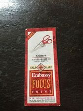 1994 Embassy Cigarettes Focus Point Insert  Scissors Collectable Card