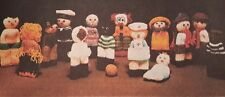 Vintage Knitting Pattern -TINY KNITTED TOY DOLLS -14 cms high