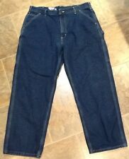 Carhartt Dungaree Fit Blue Denim Carpenter Jeans - Men's 38 X 30 Preowned