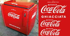 ADESIVI LOGO COCA COLA per FRIGO A POZZETTO-SET RESTAURO  OLD FRIDGE STICKERS