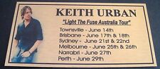 """KEITH URBAN """"Light The Fuse Aust Tour"""" Gold Plaque col Picture Free Postage****"""