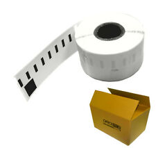 10 ROLLS 99018 DYMO / SEIKO COMPATIBLE LEVER ARCH LABELS - 38 x 190mm - GRADE A+