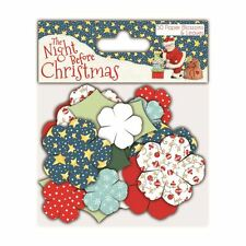 The Night Before Christmas Paper & Craft Collection - Paper Blossoms (30 pcs)