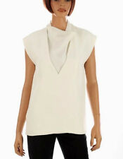 NEW CELINE IVORY VISCOSA SILK LUXURY RUNWAY SOLD OUT TOP BLOUSE SHIRT 40/8