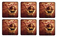 BUFFY FAITH COASTERS 1/4 BAR & BEER SET OF 6
