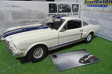 FORD MUSTANG SHELBY GT 350 de 1966 blanc bandes bleu au 1/18 EXACT DETAIL WCC117