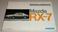 Betriebsanleitung Handbuch Conduite et Entretien Mazda RX-7 Stand 1983
