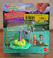 Mattel 1997 Vintage Polly Pocket Fun Fair Silly Spinner17921 NOC 2 Dolls RARE