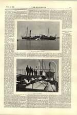 1892 Bomba De Arena Tolva Draga thyboron Cardiff nuevas obras de agua