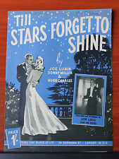 1944 sheet music - Till Stars Forget to Shine - Piano solo, vocal, chords
