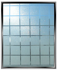 "Privacy frosted glass squares decal 70ft x 4ft (840"" x 48"") shower office VVIVID"