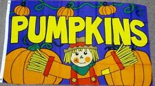 PUMPKINS FLAG 3X5 HALLOWEEN JACK-O-LANTERN SCARECROW HOLIDAY SEASONAL NEW F676
