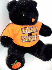 Build A Bear Retired Halloween Cub Glow in the Dark Eyes Trick or Treat Shirt