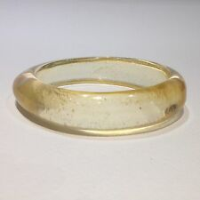 Beautiful Vintage Clear Champagne Glitter Lucite Bangle Bracelet