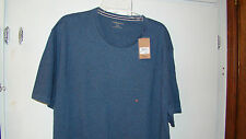 MENS  SHORT SLEEVE NAVY CREW NECKED TEE BY BASS NEW WITH TAGS SIZE 2XL