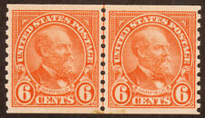 US Postage Stamp Coil Pair Joint line SC 723 6c Garfield 1932 MNH
