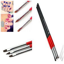 3pcs Acrylic UV Gel Painting Polish Brush Pen Dotting Nail Art Tool Set Stylish