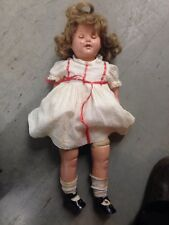 Vintage Open Mouth Doll With Teeth For Repair