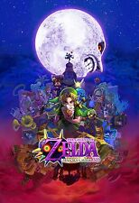 Majoras Mask New - Amazing  -  Huge Poster 34 in x 22 in - ( 1 of  3 Set )