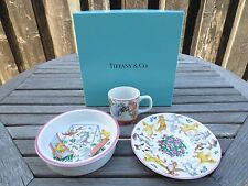 Tiffany & Co. Tiffany Playground Bowl Plate Cup Delightful Child Dishes (PG557)