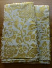 Williams Sonoma Pottery Barn Gold Damask Table Cloth 70x108 NEW