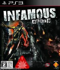 Used PS3 inFAMOUS   SONY PLAYSTATION 3 JAPAN JAPANESE IMPORT