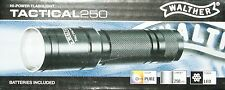 WALTHER Tactical 250 Hi-Power LED Flashlight Taschenlampe m. Batterien 250 Lumen