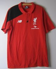 LIVERPOOL FC  WARRIOR POLO SHIRT SHORT SLEEVES - UK LARGE - NEW - RED