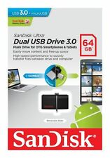 SanDisk 64GB OTG Ultra Dual Micro USB3.0 Flash Thumb Key Drive Memory Stick 64G