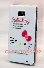 for samsung galaxy  s2  i777 and i9100 friendship pink white case kitty  kitten