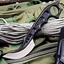 Tactical Combat Fighter Knife Black Fixed Blade M48 Ultimate  Karambit w/Sheath