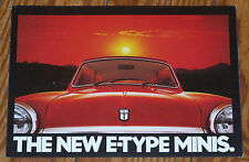 C 1978 mini City e & hl e E-Type folleto brochure n Cooper morris Austin Rover