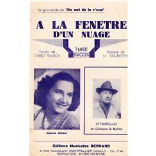A LA FENETRE D'UN NUAGE tango VITABELLO paroles Charly SAMSON et musique SEURETT